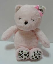 "Child Of Mink Cat Plush Rattle Pink Leopard 9"" Soft Toy Carter's Kitty"