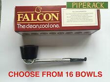 New Falcon Pipe Straight DENTURE / EASY GRIP Choose from 16 Bowls