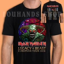 New Iron Maiden Tour 2018 Legacy Of The Beast T-Shirt Black Size S-2XL