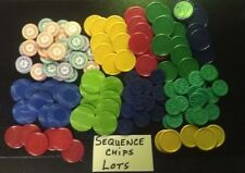 Sequence Game Chips Checkers lots Different Colors Game Replacement Pieces Parts