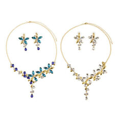 MagiDeal Horse Eyed Stone Crystal Wedding Party Flower Stunning Jewelry Sets