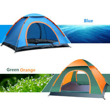Family Travel Pop Up Camping Tent 3-4 Person Easy Fast Pitch Tent Outdoor Tent