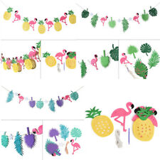 Flamingo Pineapple Summer Party Leaves Garland Bunting Banner Home Birthday Deco