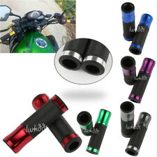 "1 Pair 7/8"" Motorcycle CNC Bicycle Aluminum Handlebar Rubber Gel Hand Grips"