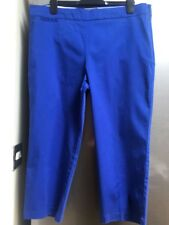 Ladies Blue cropped Cotton Trousers 16 M&S Collection Bargain