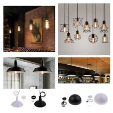E27 Metal Lampshade Ceiling Vintage Retro Chandelier Fitting LED Pendant Light
