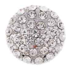 1pc Alloy Rhinestone Crystal Round Shank Buttons DIY Costume Sewing Crafts 38mm