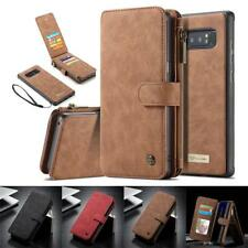 Genuine Leather Wallet Case for Samsung Galaxy