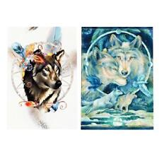 Wolves DIY 5D Diamond Painting Embroidery Cross Stitch Kit Mosaic Home Decor