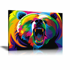 Wahyu Romdhoni Bear HD Print Oil Painting Home Decor Wall Art on Canvas