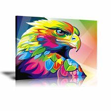 Wahyu Romdhoni Eagle HD Print Oil Painting Home Decor Wall Art on Canvas