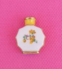 Vintage Germany Miniature Porcelain Perfume Bottle Gold Trim