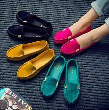 Womens Fashion Casual Loafers Moccasin Suede Ballet Slip On Flats Summer Shoes