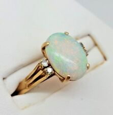 Opal and Diamond Ring - 14ct Yellow Gold (5541M)