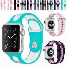 Replacement Silicone Sport Watch Band Strap Bracelet for Apple Watch Series 3 2
