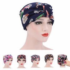 Indian Style Women's Flower Stretch Turban Hat Chemo Hair Loss Head Wrap CNew H