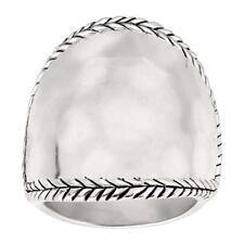 Silpada Braided Edge Hammered Finish Sterling Silver Ring