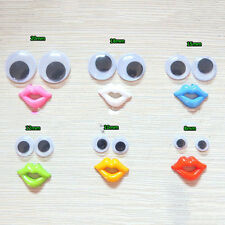 8-18mm Round Mixed Wiggly Wobbly Googly Eyes For DIY Scrapbooking Crafts  FLCA