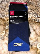 UNDER ARMOUR UA SC30 Drive Steph Curry Navy Royal Basketball Crew Socks Youth L