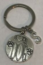 Personalized  I Love My DOG Keychain Gift for Dog Lover