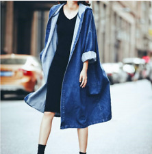 Women Boyfriend Casual Jacket Loose Oversize Denim Jeans Coat Outwear Korean New