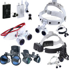 Portable Dental Magnifier Surgical Medical Binocular Loupes LED Head Light lamp