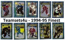 1994-95 Finest Hockey Set ** Pick Your Team ** See Checklist in Description *