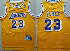 Los Angeles Lakers #23 LeBron James Retro Basketball Jersey Yellow