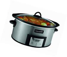 Crock-Pot SCCPVI600-S 6-Quart Countdown Slow Cooker with Stovetop-Safe Cooking P