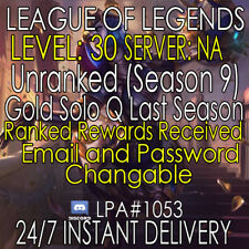 League of Legends LoL Account NA GOLD/PLAT Ranked Accounts Level 30+ Smurf