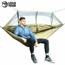New Outdoor Mosquito Net Parachute Hammock Camping Hanging Sleeping Bed Portable