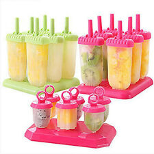 Polypropylene Ice Cream Mold Juice Popsicle Maker Ice Lolly Mould - 6 Cell