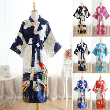 Women Floral Satin Long Robes Bridal Wedding Bridesmaid Bride Gown Kimono Robe