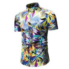 T-shirt slim fit casual tops floral men's short sleeve luxury formal stylish