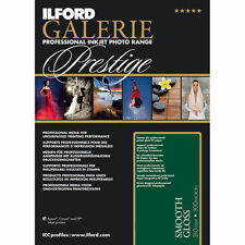 Ilford Galerie Prestige Smooth Gloss A3 A3, A4, 6x4 Inkjet Photo Paper 310gsm