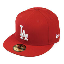 New Era MLB Los Angeles Dodgers Red White Logo 59FIFTY Fitted Cap Hat NewEra