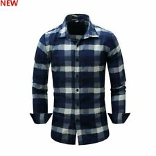 Casual New Mens Stylish 100% Cotton Fashion Luxury Casual Dress Shirts Slim Fit