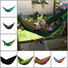 Portable Double Camping Parachute Hammock Travel Backpacking Lightweight Yard