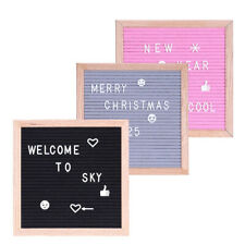 CW_ Handmade Letter Board With Letters Decoration Message Felt Board Sign Frame