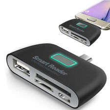 4 in 1 OTG/TF/SD Smart Type-C Card Reader Adapter Micro USB Charge Ports ODCAGK
