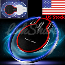 US Fast Qi Wireless Clear Charger Charging Pad Dock For Samsung S7 S8 Note 9 o7