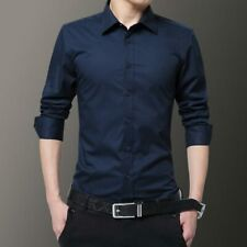 Tops Luxury Slim Fit Shirt Stylish Fashion Dress Shirts Men's Business Casual