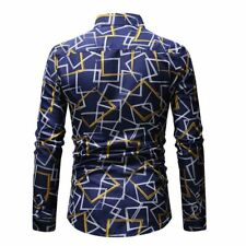 Men's formal stylish tops long sleeve casual luxury t-shirt dress shirt floral