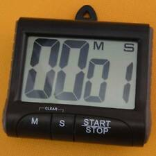 LCD Digital Kitchen Timer Count-Down Up Clock Loud Alarm Black Red Blue Large~