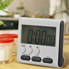 Large LCD Digital Kitchen Timer Count-Down Up Clock Loud Alarm Black Red Blue^-