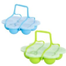 1X(Silicone Egg Bites Mold with Clip-On Lid & Handles Other Pressure Cookers F4)