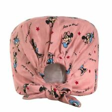 Pink Color Doctor Medical Caps Printing Dome Scrubs Hospital Surgical Work Wear