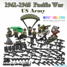 WW2 Pacific War USA Military Soldiers Army + Weapon for Minifigures Block Bricks