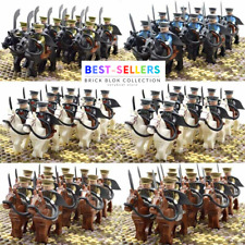 21pcs WW2 Military Soldiers France US Britain Army War Horse+Weapon Minifigures