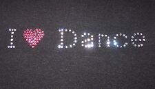 GIRLS/YOUTH SIZES I HEART DANCE RHINESTONE T-SHIRTS NEW